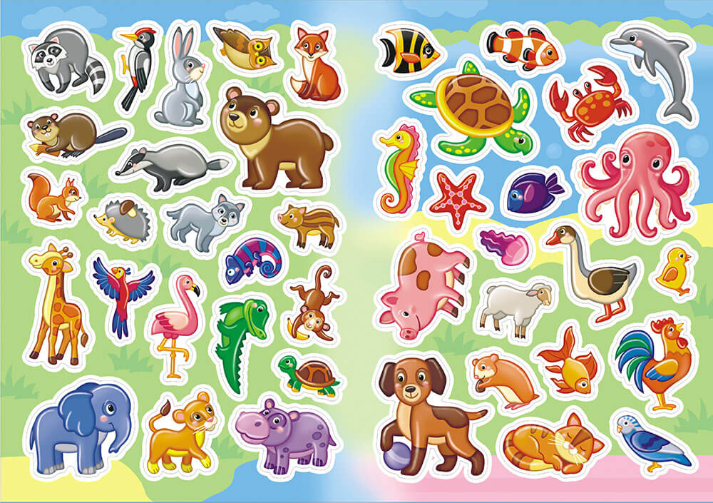 цветные картинки с изображением животных красивые