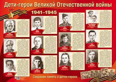 Плакат героев великой отечественной войны